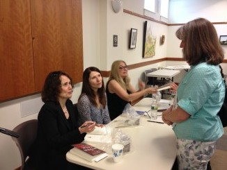 Signing with Jennifer Haigh and Ann Hood at the Maynard Book Festival